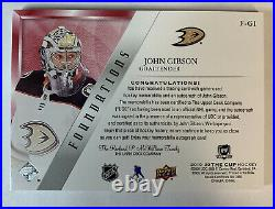 2019-20 Upper Deck The Cup John Gibson Jersey/ Red Ink Auto 1/5