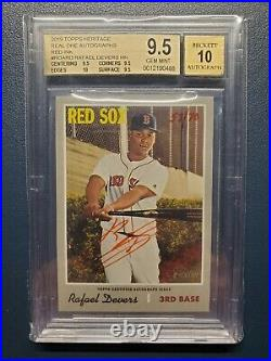 2019 Heritage High Number Rafael Devers Red Ink SP Auto #57/70 BGS 9.5