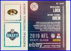 2019 Prestige Rookie Passport Auto Drew Lock Red-Ink On-Card SSP Ebay 1/1