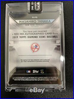 2019 Topps Diamond Icons Baseball MASAHIRO TANAKA AUTO Red Ink Gold 1/1 YANKEES