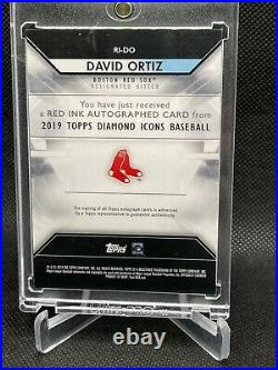 2019 Topps Diamond Icons David Ortiz RED Parallel RED Ink Auto Red Sox Big Papi