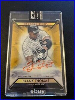 2019 Topps Diamond Icons Frank Thomas Gold Red Ink Auto Autograph 1/1 White Sox