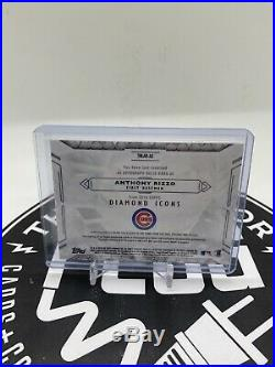 2019 Topps Diamond Icons Red & Red Ink 3/5 Anthony Rizzo Jumbo Patch Auto