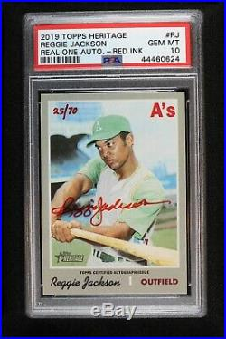 2019 Topps Heritage High Reggie Jackson Red Ink Real One Auto 25/70 PSA 10 GEM