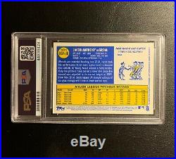 2019 Topps Heritage JACOB DeGROM NY Mets Red Ink Auto (No Ball) PSA 10 POP 2