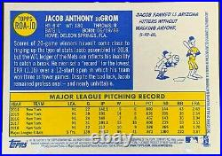 2019 Topps Heritage Jacob Degrom Real One Red Ink On-card Auto #26/70