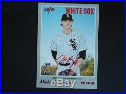2019 Topps Heritage Michael Kopech RC Real One Red Ink AUTO Autograph 08/70 MINT