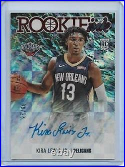 2020/21 Prizm NBA Hoops Kira Lewis Jr Rookie Ink Auto Red Foil #d 09/25