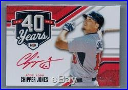 2020 Panini Stars & Stripes Chipper Jones Auto 4/10 Red Ink Autograph 40 Years