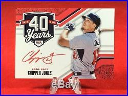 2020 Panini Stars & Stripes Chipper Jones Auto 6/10 Red Ink Autograph 40 Years
