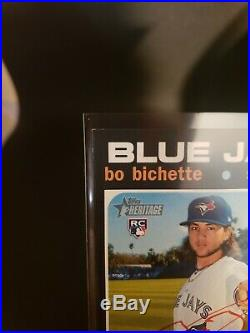 2020 TOPPS HERITAGE Real One Red Ink 40/71 Auto BO BICHETTE Blue Jays ROA-BB