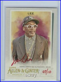 2020 Topps Allen & Ginter Full Size Auto Red Ink Spike Lee Director 07/10