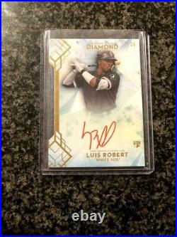2020 Topps Diamond Icons Luis Robert Rookie Red Ink AUTO /25 Chicago White Sox