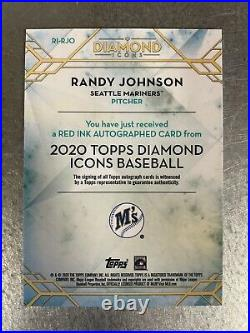 2020 Topps Diamond Icons Randy Johnson Red Ink Auto /10! Seattle Mariners