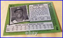 2020 Topps Heritage Baseball High Number Juan Soto Real One Red Ink Auto 11/71