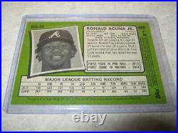 2020 Topps Heritage High Number Ronald Acuna Jr. Real One Red Ink Auto 05/71