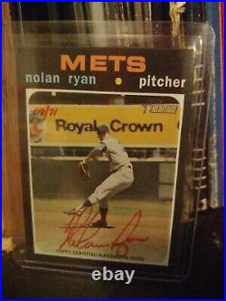 2020 Topps Heritage Red Ink Auto Nolan Ryan Only 71 Made, 09/71