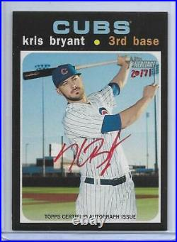 2020 Topps Heritage Red Ink Kris Bryant Autograph Auto #d/71 Chicago Cubs