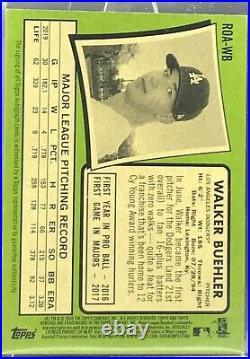 2020 Topps Heritage Walker Buehler On Card AUTO Red Ink /71 Dodgers MLB Champ