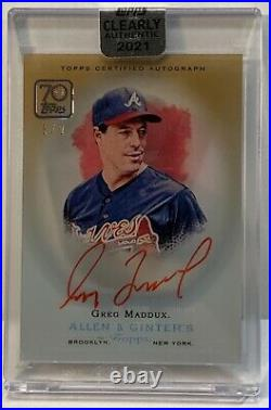 2021 Topps Clearly Authentic Greg Maddux Auto 1/1 Red Ink #1/1 Atlanta Braves