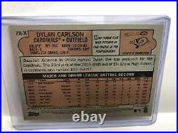 2021 Topps Heritage Dylan Carlson Rc Auto Red Ink Ssp 34/72 Cardinals Rookie