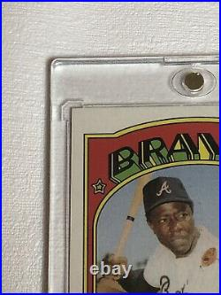 2021 Topps Heritage HANK AARON Real One Autograph Red Ink 31/72 Last Auto WOW