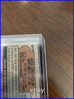 2021 Topps Heritage Jazz Chisholm Rc Auto SSP REAL ONE RED INK! 15/72 #ROA-JCH
