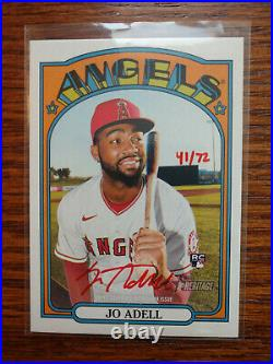 2021 Topps Heritage Jo Adell Real One Red Ink Auto #/72