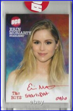 ACE Universe The Boys Erin Moriarty Starlight Auto Signed Card Red Ink 9/10 JSA