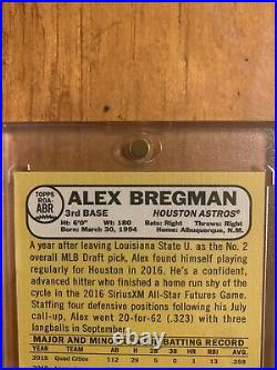 Alex Bregman 2017 Topps Heritage Real One RED INK Auto RC #07/68 Rookie