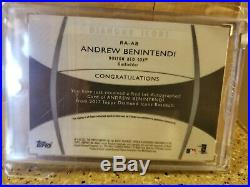 Andrew Benintendi 2017 Topps Diamond Icons Purple. Red Ink Auto Rc #5/10 Rare Rc