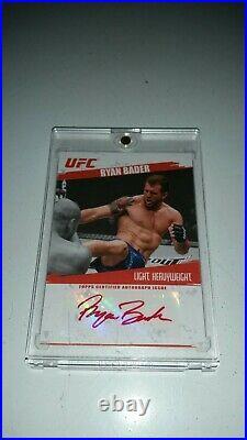 Authentic 2009 UFC (Bellator) Round 2 Ryan Darth Bader 13/25 Red Ink 1st Auto