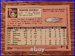 Brandon Woodruff 2018 Topps Heritage Real One Red Ink RK Auto /69