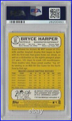Bryce Harper 2017 Topps Heritage Real One Auto Red Ink 05/25 PSA 10 GEM MINT
