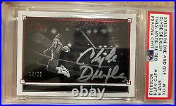 Clyde Drexler Auto /25 Panini One And One Timeless Moments PSA 9! POP 1 Red Ink