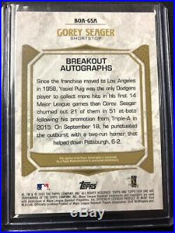 Corey Seager #2/5 2016 Tier One RC Auto Asia Exclusive Red Ink