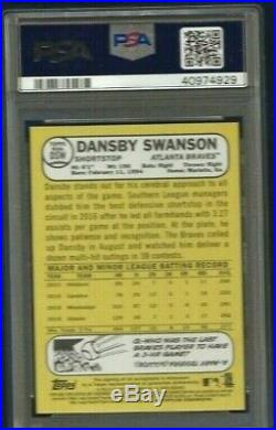 Dansby Swanson Auto Rookie 2017 Topps Heritage #d /68 RC Red Ink PSA 10 Braves