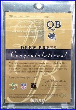 Drew Brees Autograph 2003 SP Signature Edition RED Ink Auto #/100 Saints
