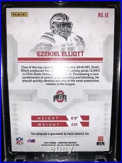 Ezekiel Elliott 2016 Prestige Draft Day Signatures Red Ink SSP Rookie AUTO /25