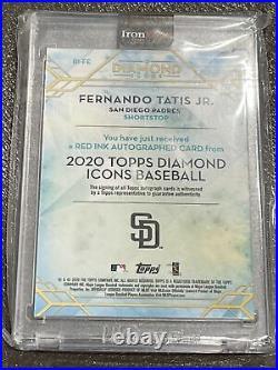 Fernando Tatis Jr Diamond Icons Auto 3/10 Red Ink Wow