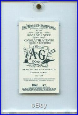 George Lopez /10 Auto Red Ink Mini 2016 Topps Allen & Ginter Autograph Comedian