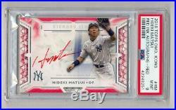 Hideki Matsui 2018 Topps Diamond Icons Red Ink Auto #3/5 Psa 9 Mint Yankees