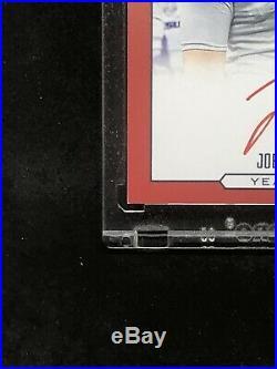 Joe Burrow Rookie Autograph 2020 Luminance Year One On Card Red Ink Auto SSP LSU