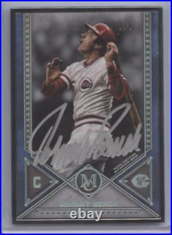 Johnny Bench 2019 Topps Museum Framed Silver Ink Auto 3/5 Reds