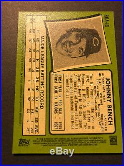Johnny Bench 2020 Topps Heritage Real One Red Ink Autograph Reds Auto Sp #59/71