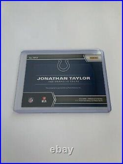 Jonathan Taylor 2020 Donruss Elite 1/1 RED INK PEN PALS ROOKIE AUTO COLTS
