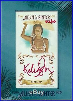Kelia Moniz 2015 Topps Allen Ginter Mini Framed Auto Red Ink Signature #2/10