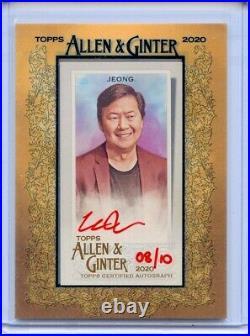 Ken Jeong 2020 Topps Allen Ginter Red Ink Framed Mini Auto Autograph 8/10