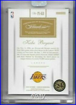 Kobe Bryant 2015-16 Panini Flawless Premier Ink Red Auto 2/15 Los Angeles Lakers
