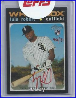 LUIS ROBERT LIVE 2020 Topps Heritage Real One Red Ink Auto RC Rookie SSP 40/71